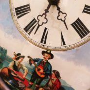 Black Forest Clock with underpainting on glass